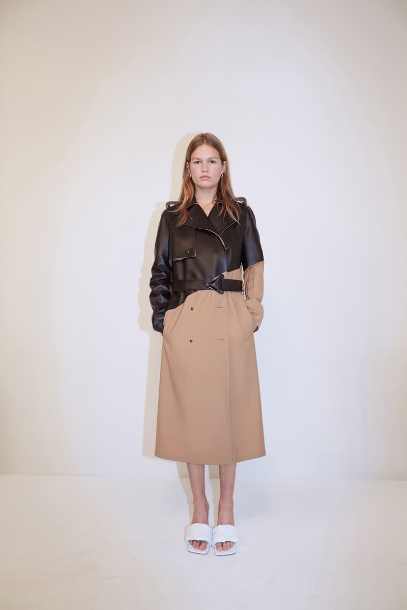 bottega veneta pre spring 2020 lookbook daniel lee leather bag footwear trench coat