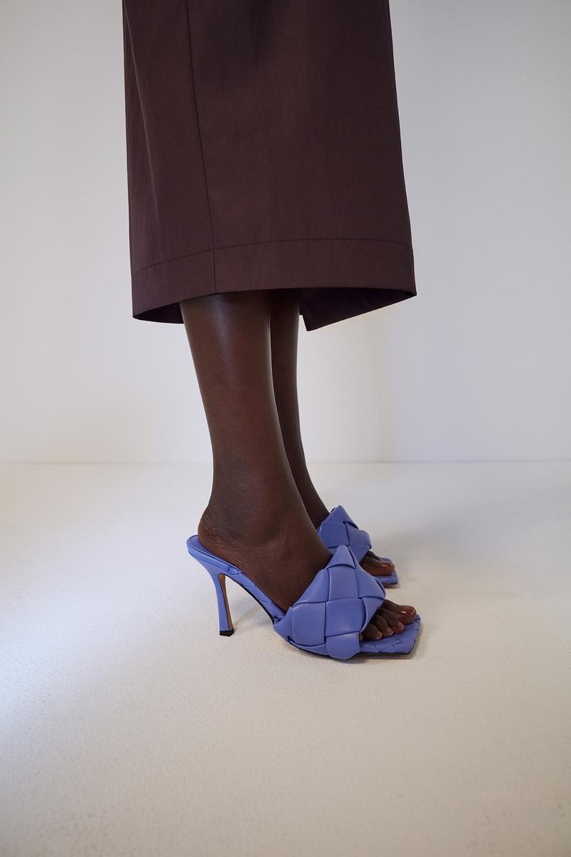 bottega veneta pre spring 2020 lookbook daniel lee purple sandals heel footwear
