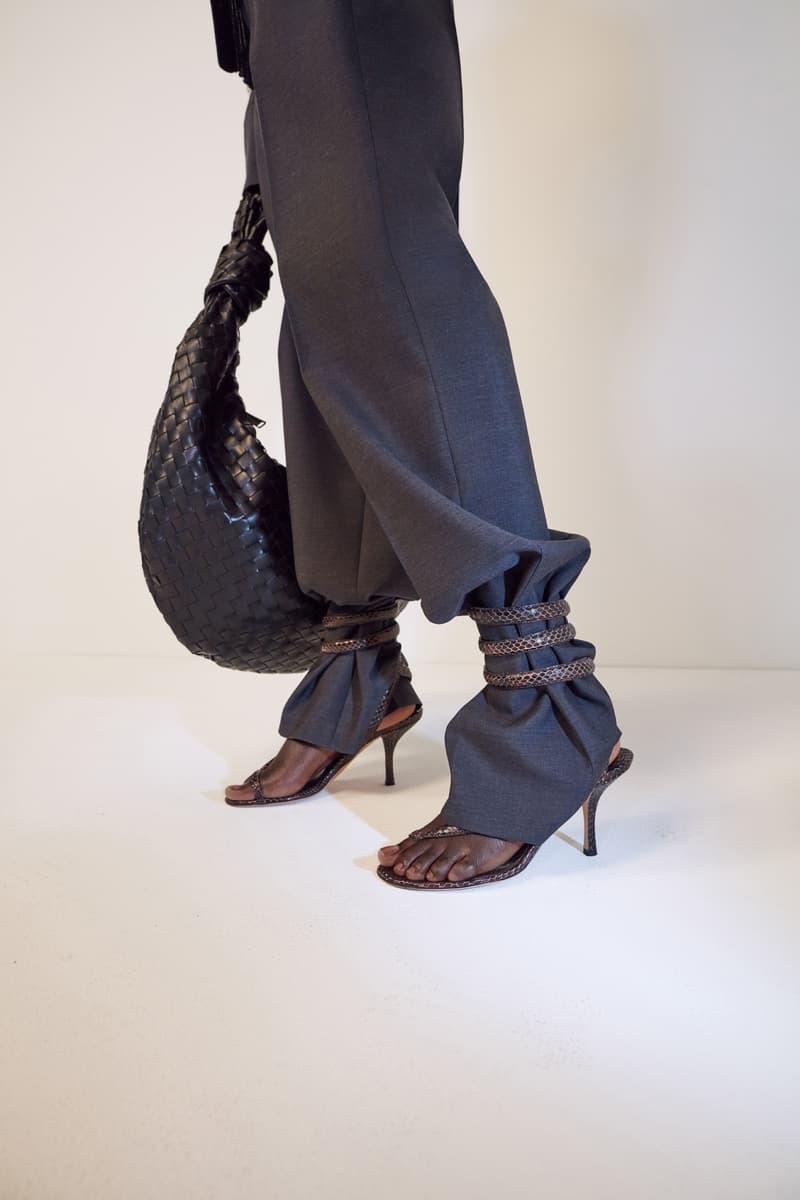 bottega veneta pre spring 2020 lookbook daniel lee leather bag footwear sandals strap