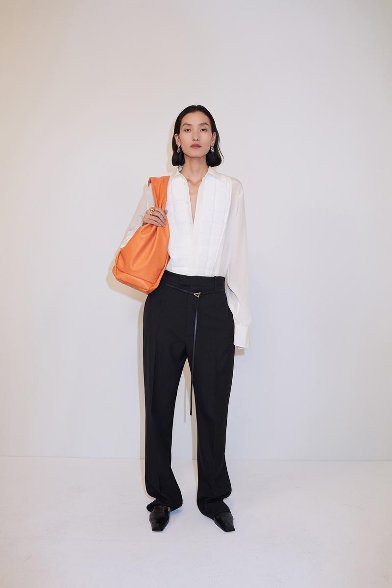 bottega veneta pre spring 2020 lookbook daniel lee leather bag footwear orange