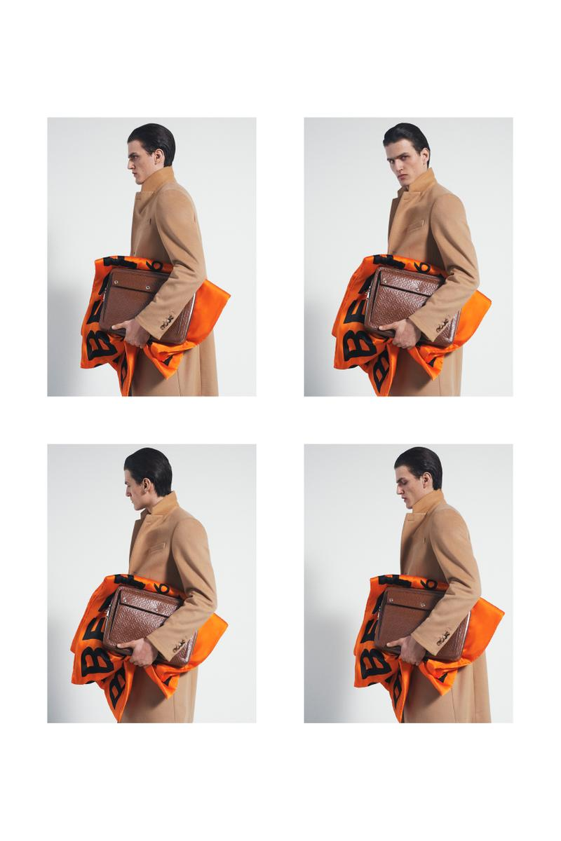 Burberry Fall Winter 2019 Pre Collection Campaign Jacket Tan Bag Orange