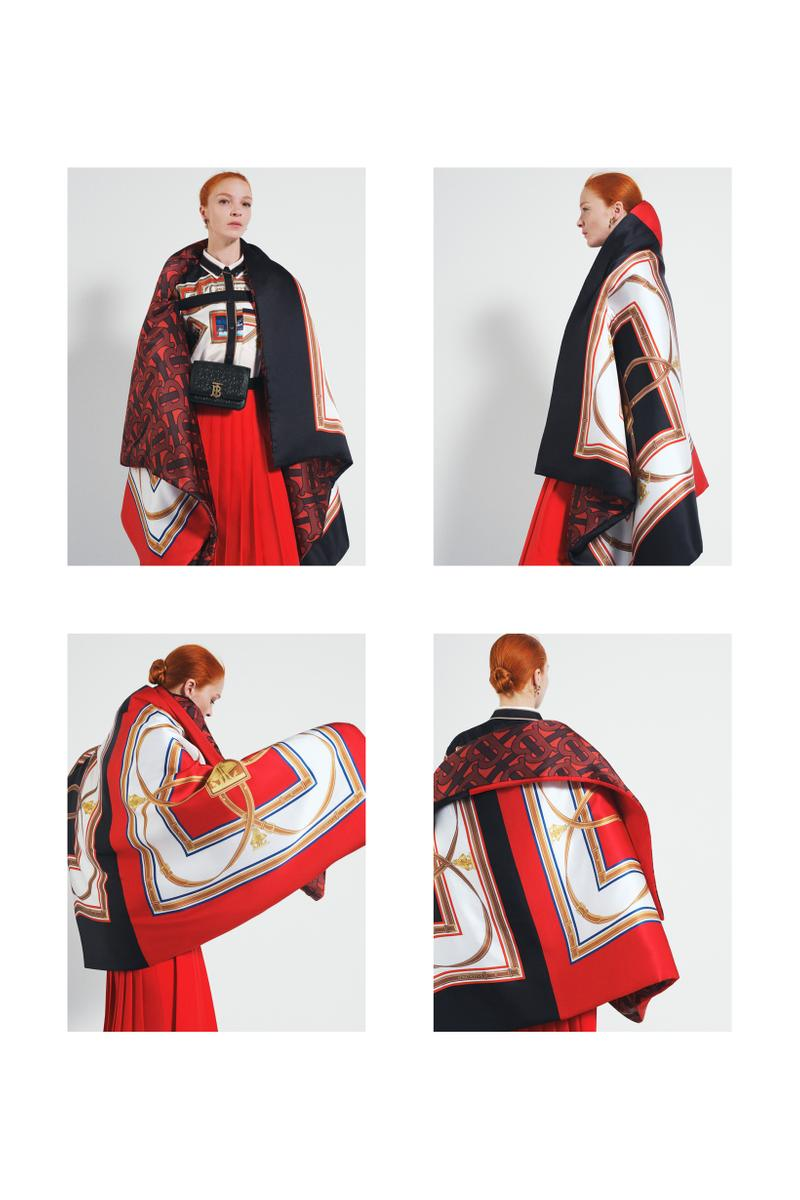 Burberry Fall Winter 2019 Pre Collection Campaign Jacket Scarf Black Red