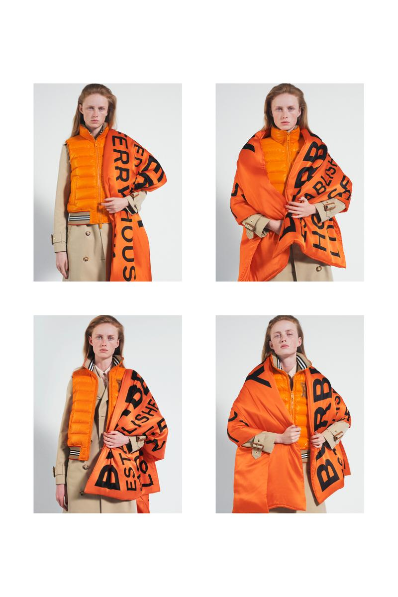 Burberry Fall Winter 2019 Pre Collection Campaign Jacket Scarf Orange