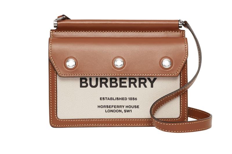 Burberry Title Bag Top Handle Beige Tan