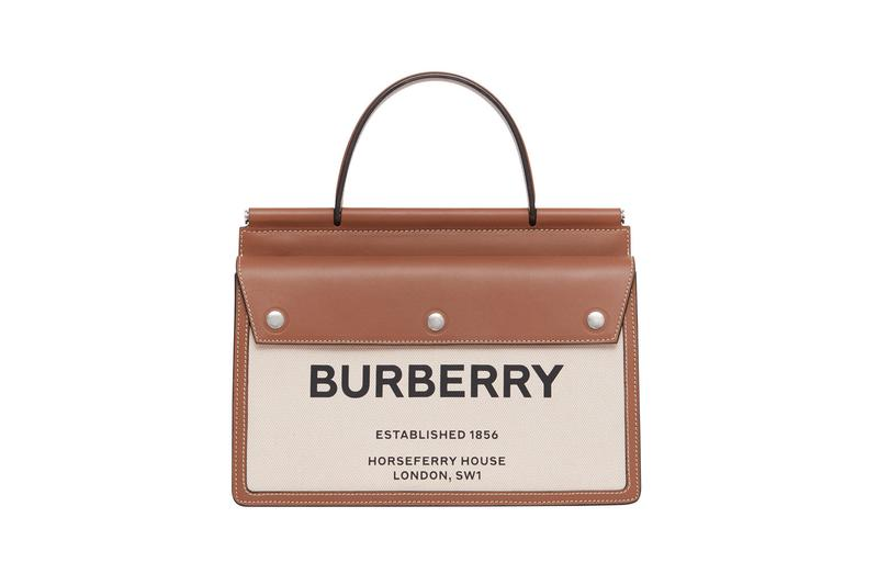 Burberry Title Bag Top Handle Beige Tan