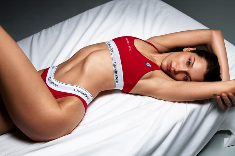 Calvin Klein Bella Hadid #MYCALVINS CUSTOM Campaign Sports Bra Underwear Red
