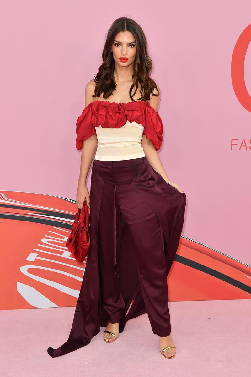 Emily Ratajkowski CFDA Fashion Awards 2019 Red Carpet Hellessy Bustier Pants