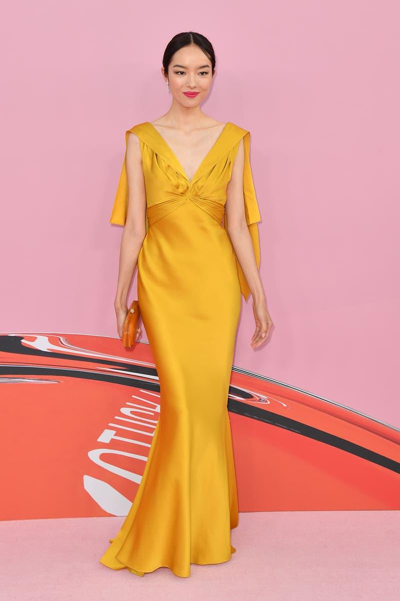 CFDA Fashion Awards 2019 Red Carpet Fei Fei Sun Chinese Model Yellow Dress