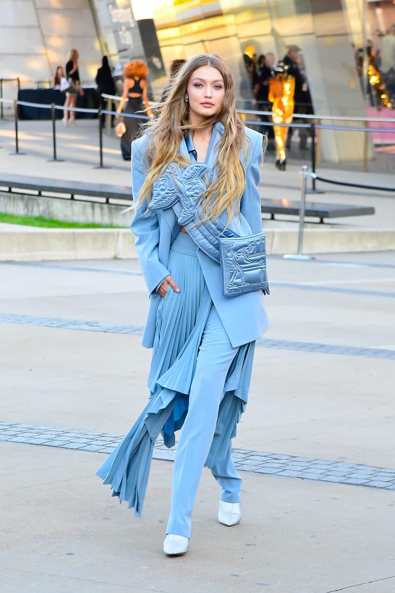 CFDA Fashion Awards 2019 Red Carpet Gigi Hadid Virgil Abloh Blue Dress Pants Blazer