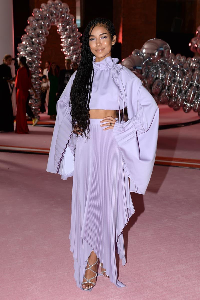 Jhene Aiko CFDA Fashion Awards 2019 Pyer Moss Purple Skirt Pleated
