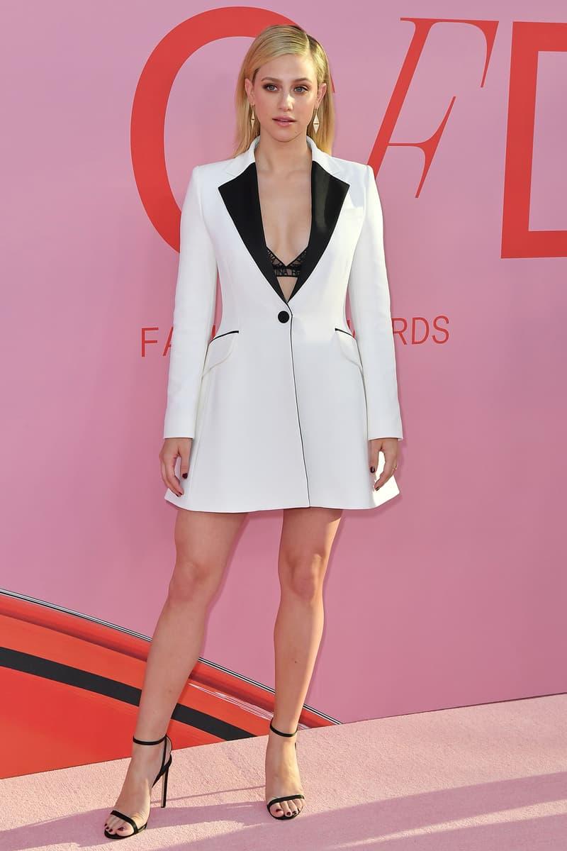 CFDA Fashion Awards 2019 Red Carpet Lili Reinhart Riverdale Actress White Blazer