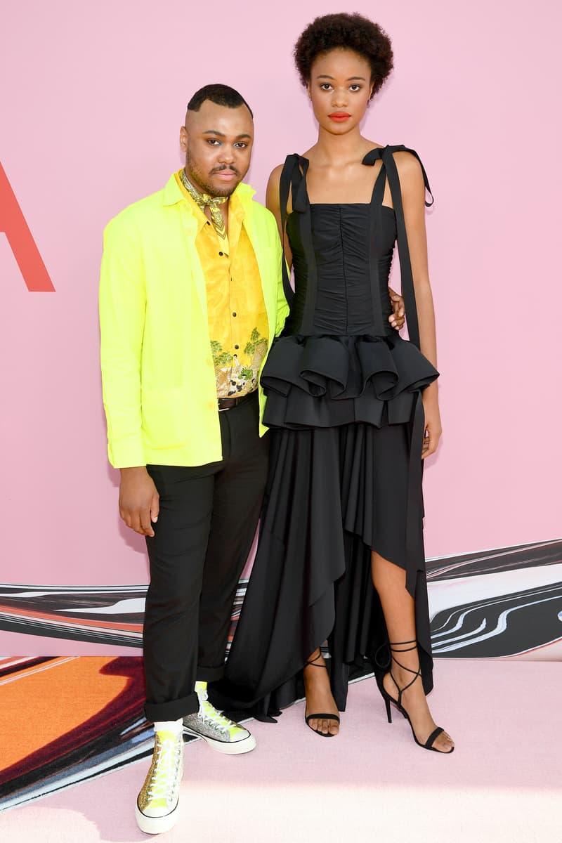 CFDA Fashion Awards Christopher John Rogers Blazer Yellow Dress Black