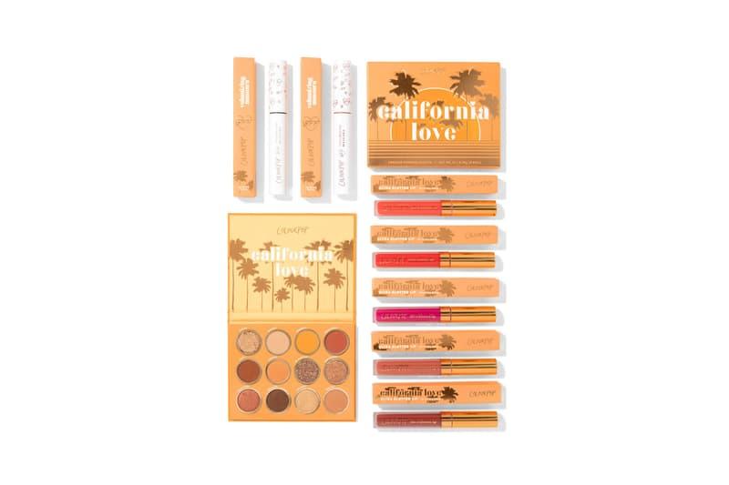Colourpop California Love Collection Makeup Eyeshadow Palette Bronze Beige Brown Gray Maroon Orange Rust Red
