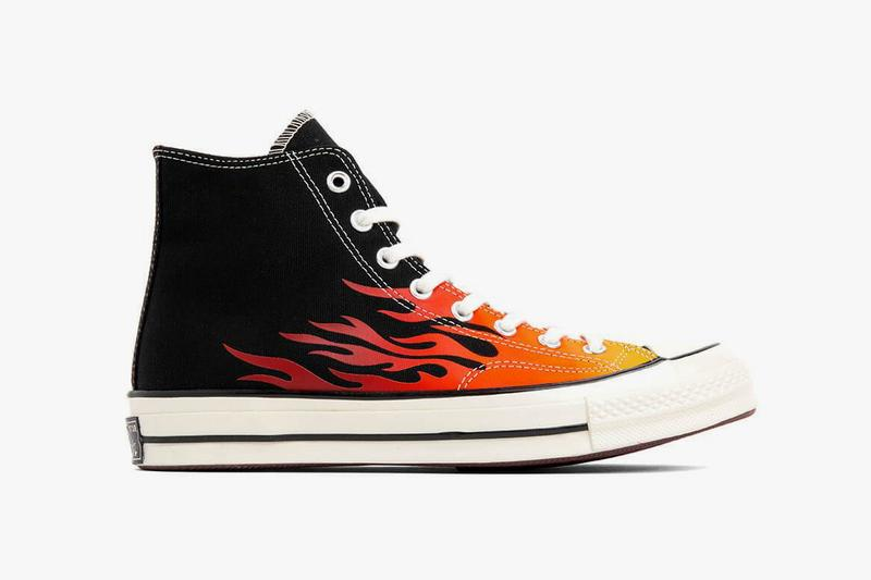 Converse Chuck 70 Archive Prints Remixed Pack Flames All Star Hi Black Enamel Red