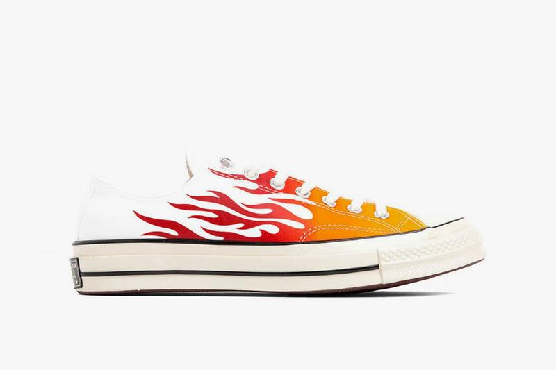 Converse Chuck 70 Archive Prints Remixed Pack Flames All Star Ox White Enamel Red