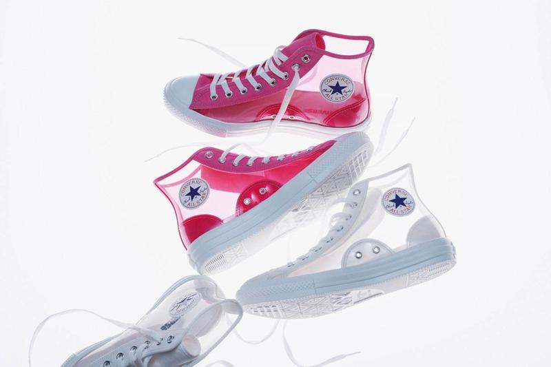 Converse Japan Chuck Taylor All Star Light Clear Material Hi Pink White