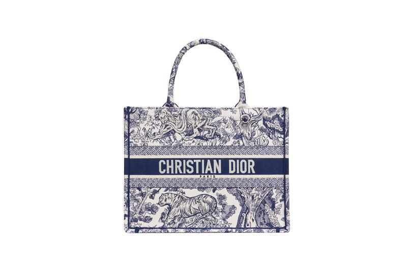 Dior Dioriviera Summer Beachwear Capsule Book Tote Blue White