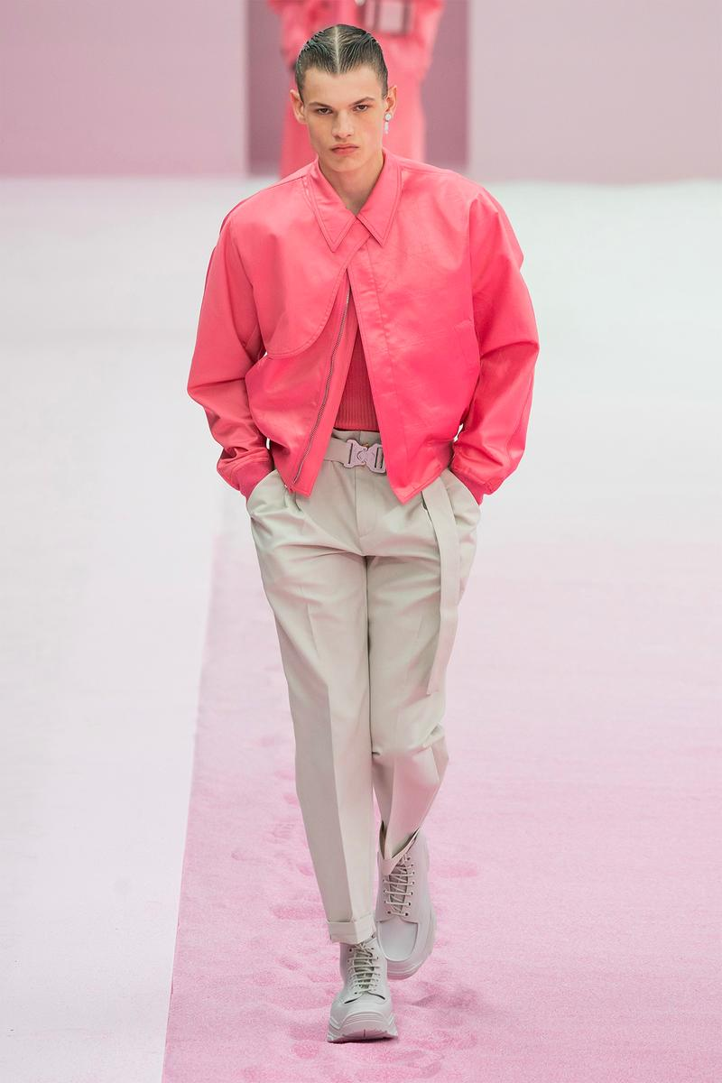 Dior Men Homme Spring Summer 2020 SS20 Paris Fashion Week Men's Runway Kim Jones Pink Jacket