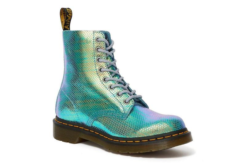 Dr. Martens Pink Blue Iridescent Platform Molly Pascal Boots Holly Shoes Holographic Metallic