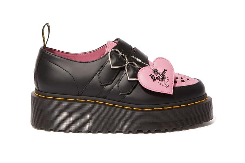 Lazy Oaf Dr. Martens Doc Boots Creepers Vegan Sandals Platform Pink Heart