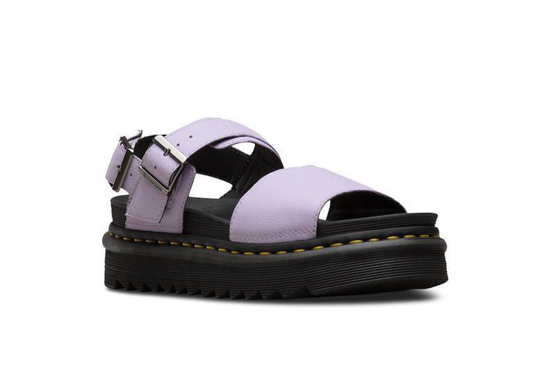 Dr. Martens Sandal Collection Festival Season Shoe Footwear Colorful Leather Silhouettes Straps Summer Concert Outfit Pink Yellow Purple Design Release