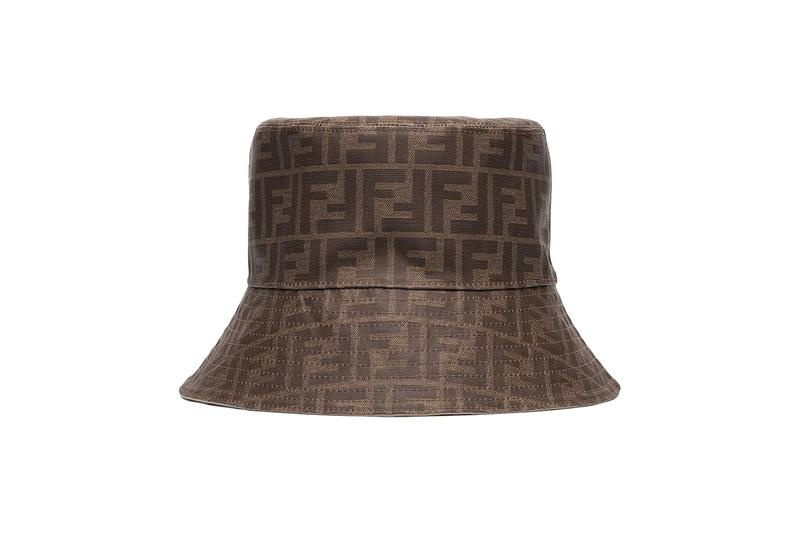 Fendi Logo Monogram Bucket Hat Brown Print Browns Cap Summer Accessory FF Logo Where To Buy