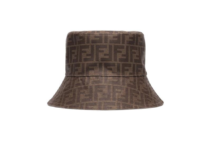68c94938 Fendi Logo Monogram Bucket Hat Brown Print Browns Cap Summer Accessory FF  Logo Where To Buy