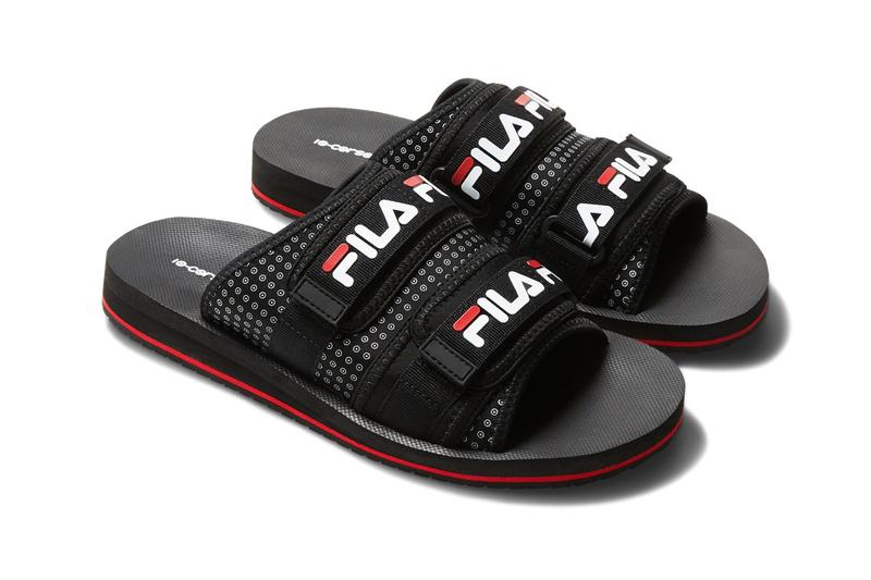 FILA x 10 Corso Como Logo Sneaker Slides Release Black White Footwear Collection