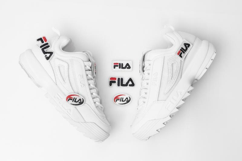 FILA Disruptor 2 Customizable Velcro Patches DIY Design Logo Sneaker Shoe White Release Where To Buy Summer Sneaker