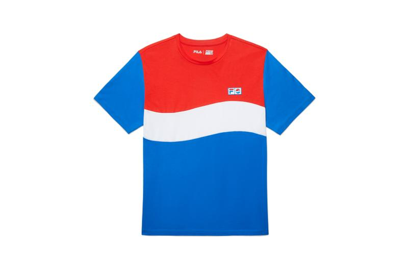 FILA x Pepsi Capsule Collection T Shirt Blue