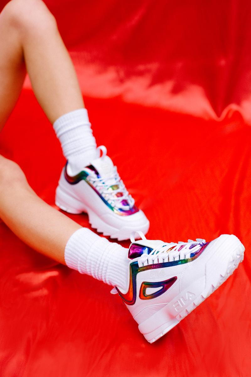 FILA The Phluid Project Disruptor White Rainbow