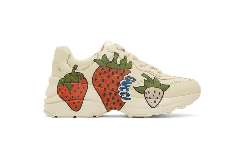 gucci sneakers strawberry alessandro michele footwear shoes ssense