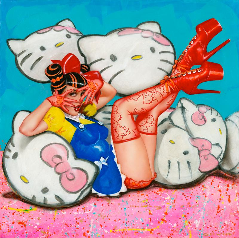 Olivia De Berardinis Hello Kitty Art Painting