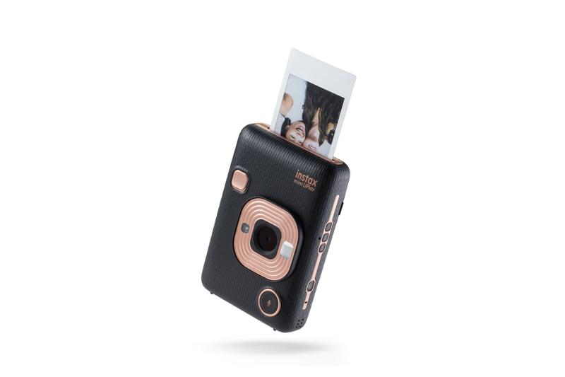 Fujifilm Instax Hybrid Instant Camera Rose Gold Print Out Polaroid Sound Feature White Black Photos Photography