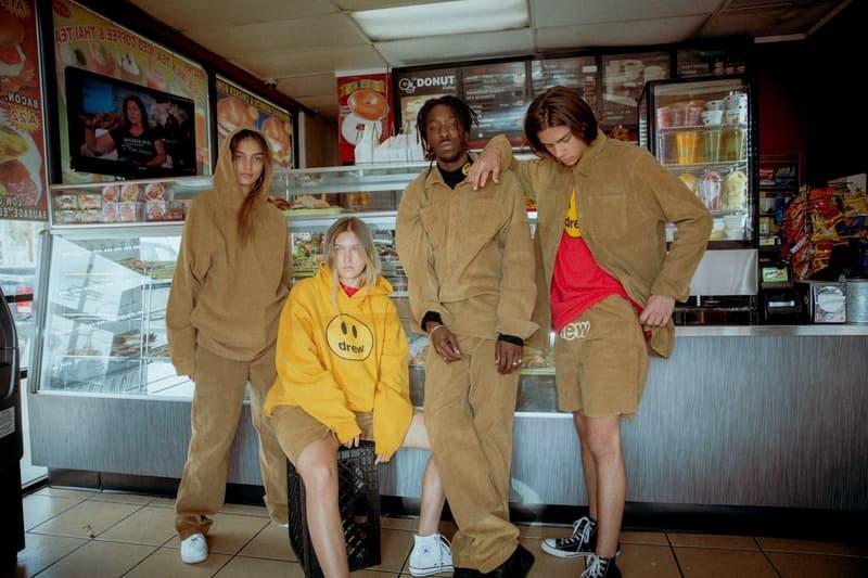 Drew House Lookbook Hoodie Yellow Corduroy Jacket Pants Shorts Tan