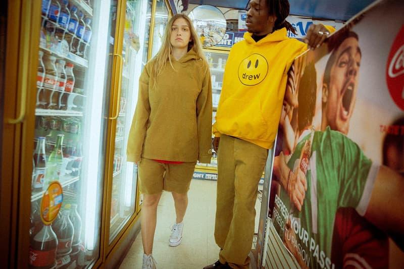 Drew House Lookbook Hoodie Yellow Corduroy Jacket Shorts Tan
