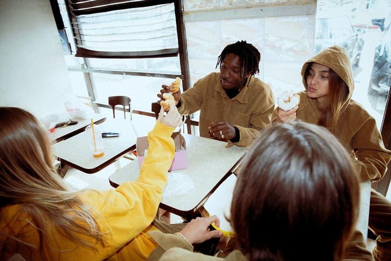 Drew House Lookbook Hoodie Yellow Corduroy Jacket Tan
