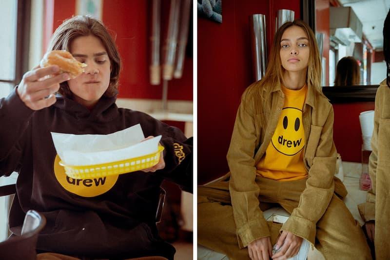 Drew House Lookbook Sweater Black Yellow Jacket Tan