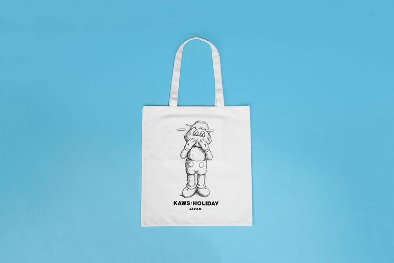 KAWS AllRightsReserved Japan Collection Drop T-shirt Tote Collectibles Pastel Blue Pink Gray Black White Figurines Pin Mugs Cups Plush