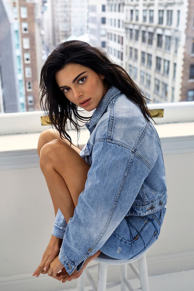 Kendall Jenner ksubi Jeans Fall 2019 Capsule Campaign Model Denim Blue Jacket