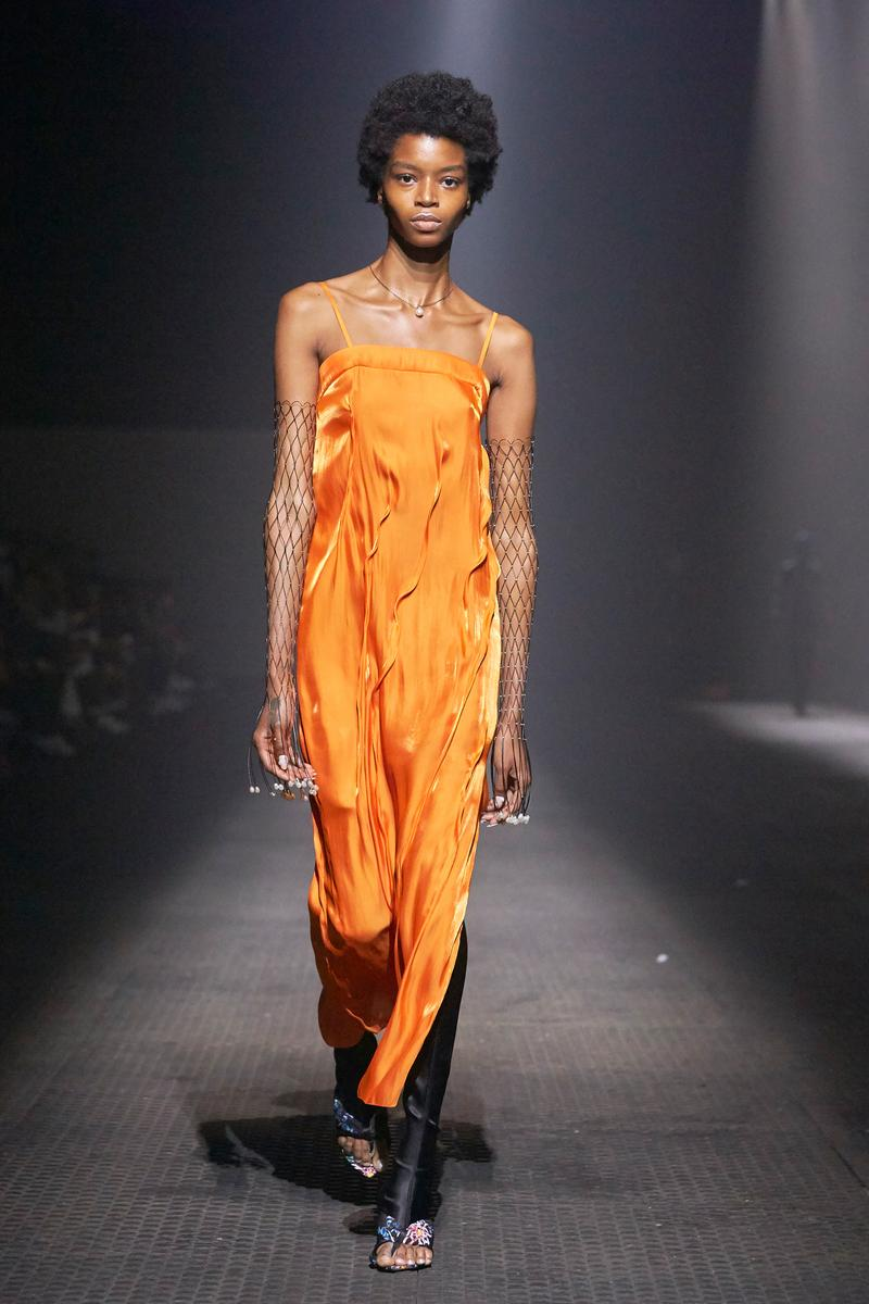 KENZO Spring Summer 2020 Show Paris Fashion Week Men's Dress Orange