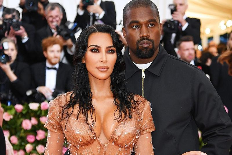 Kim Kardashian Kanye West 2019 Met Gala Thierry Mugler Dress Brown Jacket Black