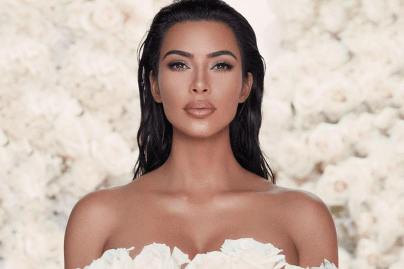 Kim Kardashian KKW Beauty Dress Roses White