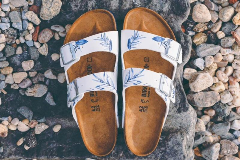 KITH x Birkenstock Arizona Boston Sandal Release Date Summer Shoe Floral Strap Fashion Leather Collaboration Launch