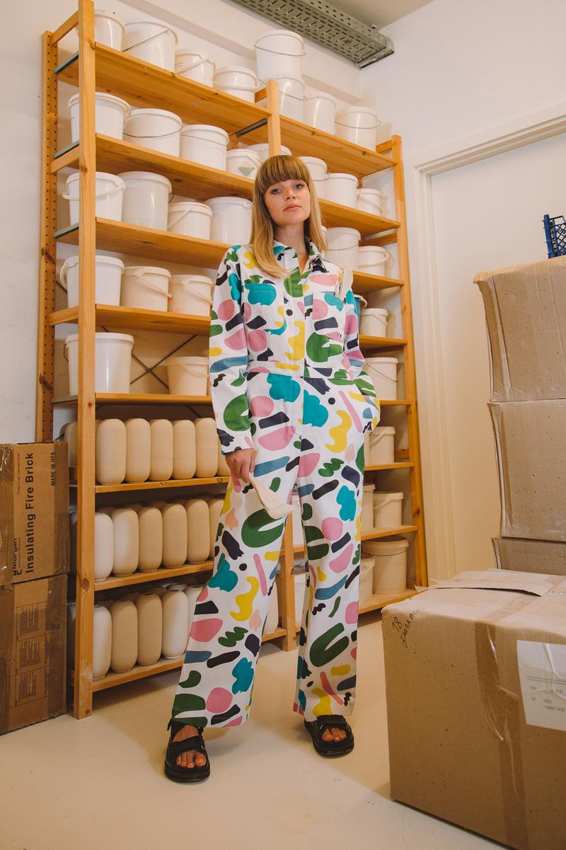 Studio Arhoj x Lazy Oaf Boiler Suit White Pink Green