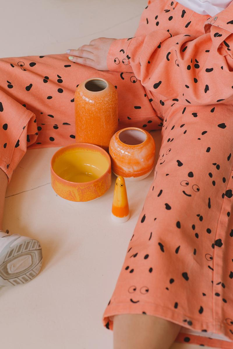 Studio Arhoj x Lazy Oaf Pants Ceramics Orange