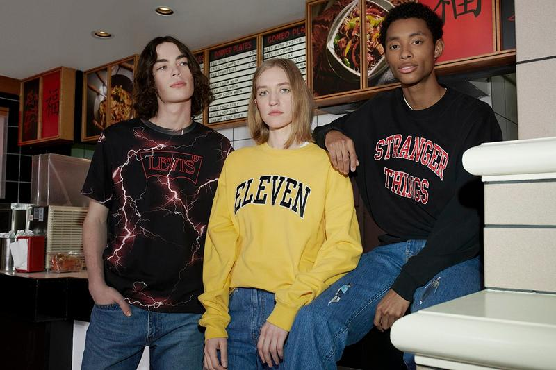 Stranger Things x Levi's Collaboration Release Netflix Capsule Range Eleven Collegiate Sweater Drop Date Logo Graphics Color Launch