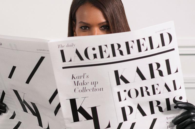 Karl Lagerfeld L'Oréal Paris Campaign News Newspaper