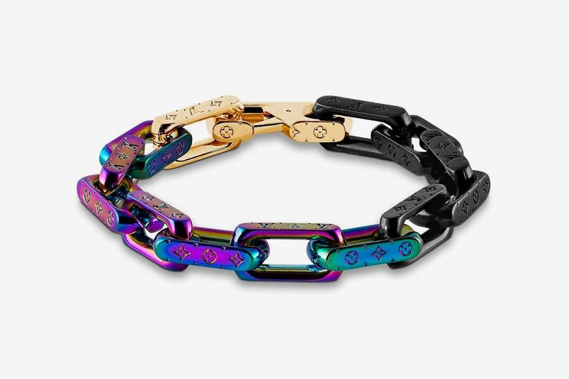 Louis Vuitton Virgil Abloh Spring Summer 2019 Monogram Bracelet Gold Purple Black