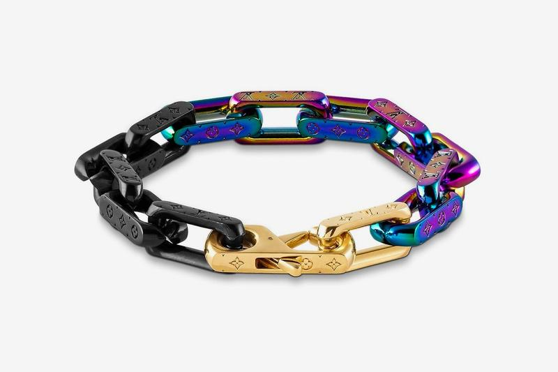 Louis Vuitton Virgil Abloh Spring Summer 2019 Monogram Bracelet Gold Purple Black